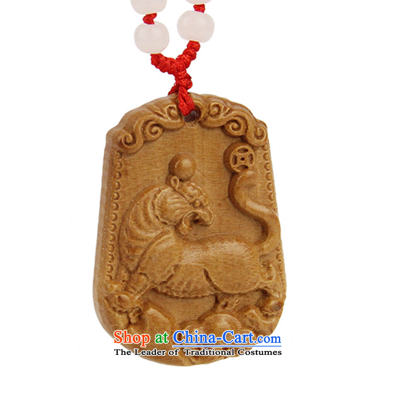 Hing Kok Zodiac Yun similar pendants carved mahogany wood ornaments necklace men Girl) applies the Chinese zodiac is the tiger