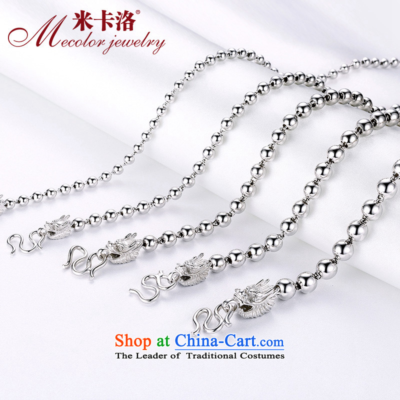 M Carlo (feed certificate) 925 silver necklace bead necklace mixer China wind men Ms. necklace necklace couples with both men and women, necklaces?09 wide 7 mm long 55 cm Weight 40 g sent certificate