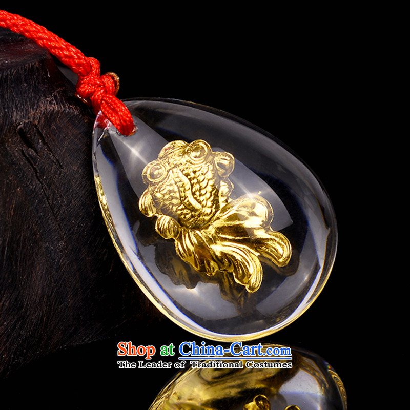 Gold Artificial Crystal Chinese Feast pendants attached Authentication Certificate