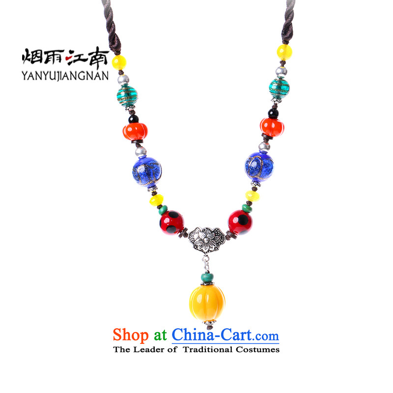 Gangnam-gu rainy ethnic necklace handcraft furnishings and modern China Wind Flower girl Short Length (65 cm) standard)