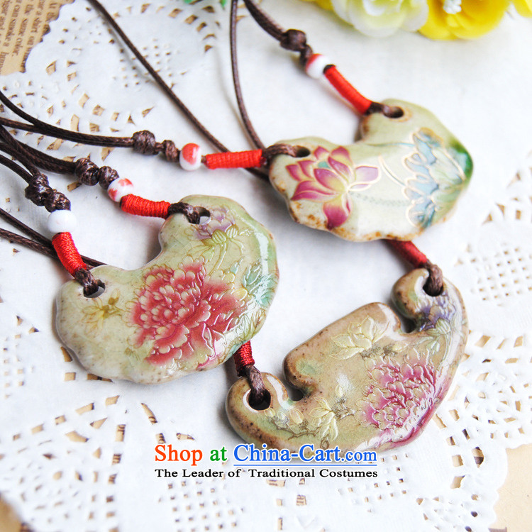 Sunroof (sky window China wind ceramic retro Mudan necklace cotton linen wild ornaments auspicious lock pendants ethnic sweater link antique Kim Ha pictures, prices, brand platters! The elections are supplied in the national character of distribution, so action, buy now enjoy more preferential! As soon as possible.
