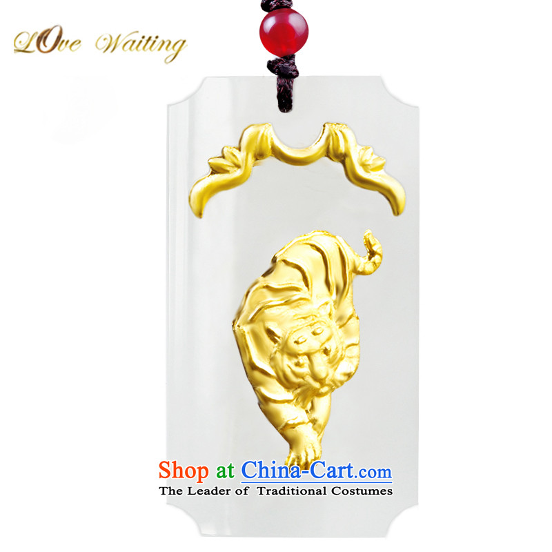 LovewaitingHetian Jade gold jade lovers the twelve animals of the Chinese zodiac pendants Tiger