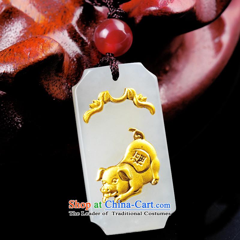 LovewaitingHetian Jade gold jade lovers the twelve animals of the Chinese zodiac pig ,lovewaiting,,, pendants shopping on the Internet