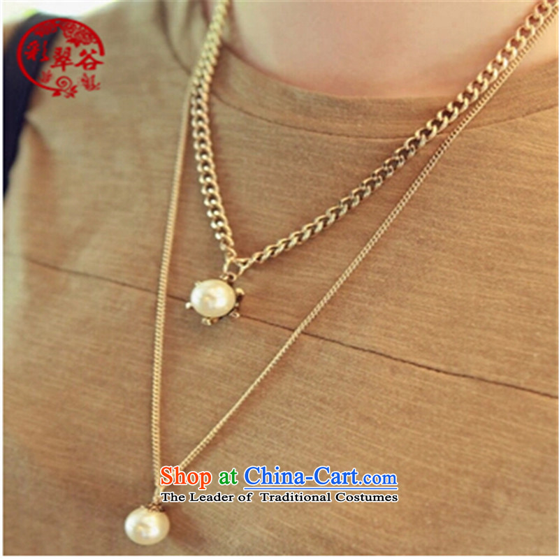 Multimedia verdant valleys multi-tier sweater link pearl parquet water drill three layers of long chain payment chain mounting accessories female gift ancient silver