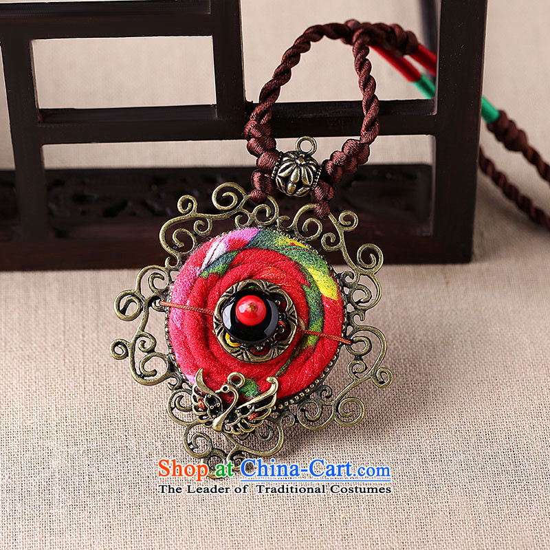 Gangnam-gu rainy necklace handcrafted accessories from long ethnic sweater chain hang Hang Chain China wind fabrics pendants women own length (Please attach specific size message), Amidst the Rain Gangnam , , , shopping on the Internet