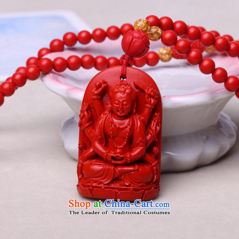 The leading edge of The Ascott synthetic 8 cinnabar Patron of the twelve animals of the Chinese zodiac men pendants pendants verdant Patron of the Buddha pendants necklace Fugen Bodhisattva Zodiac dragon and snake by order of the guardian god of Buddha Pe