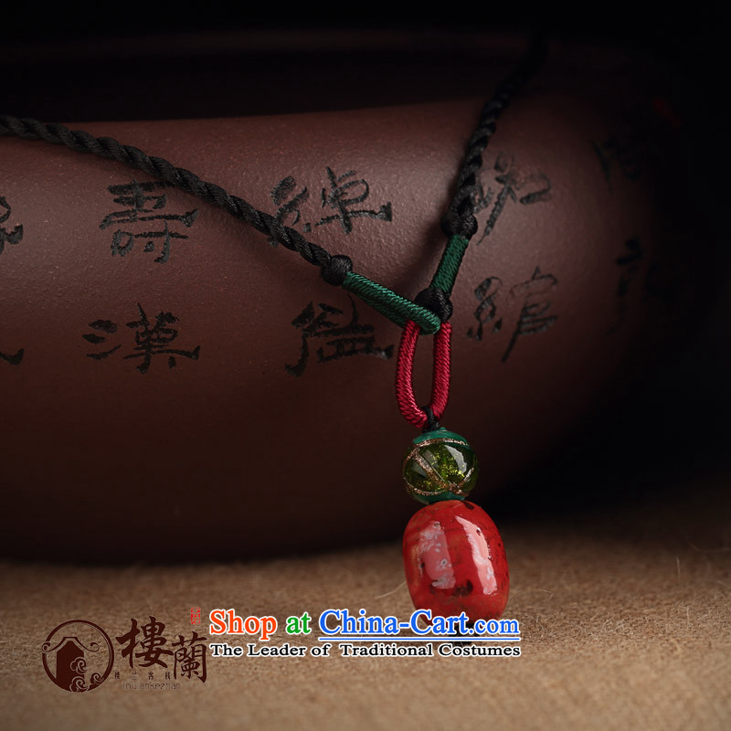 Terracotta ceramic clavicle link short, simple girl fresh China wind necklace pendants sheikhs wind ornaments custom size limit to 10cm make sure you always leave a voicemail message_.