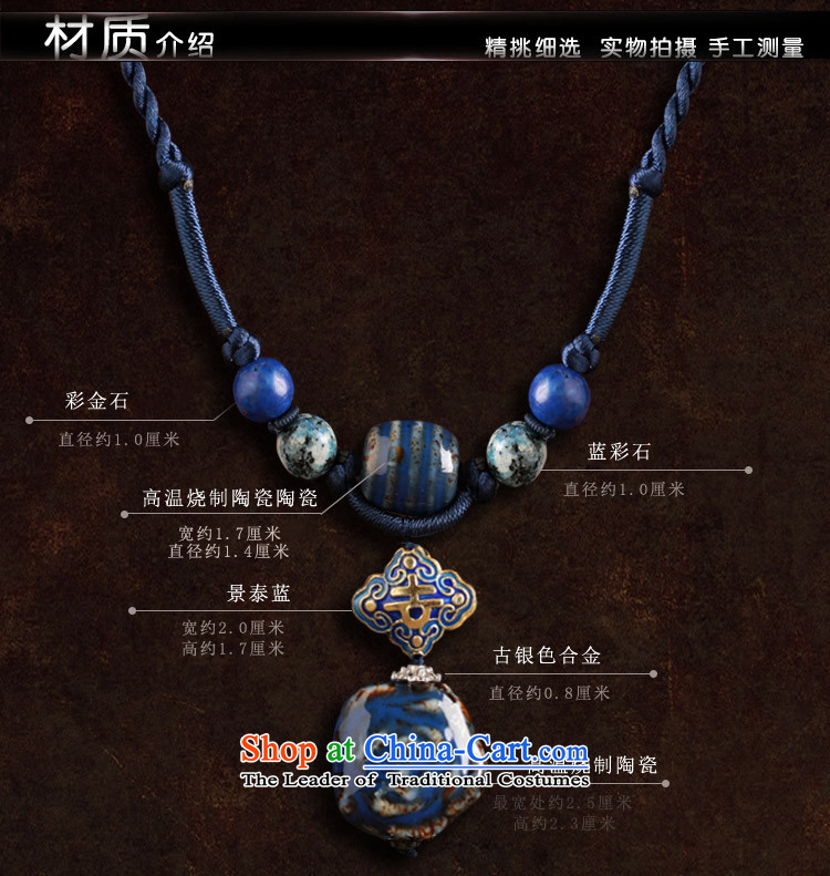 Blue Ceramic Cloisonne Accessory hanging pendants retro ethnic necklace female China wind jewelry products standard size_ link circumference 48 cm photo, prices, brand platters! The elections are supplied in the national character of distribution, so action, buy now enjoy more preferential! As soon as possible.