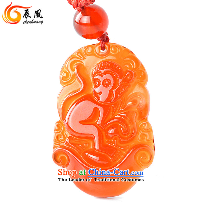 E for 2016 natural Red Agate Pendant Zodiac necklace Yuk-pei men and women of the Chinese zodiac (Normal), the hanging cord e for shopping on the Internet has been pressed.