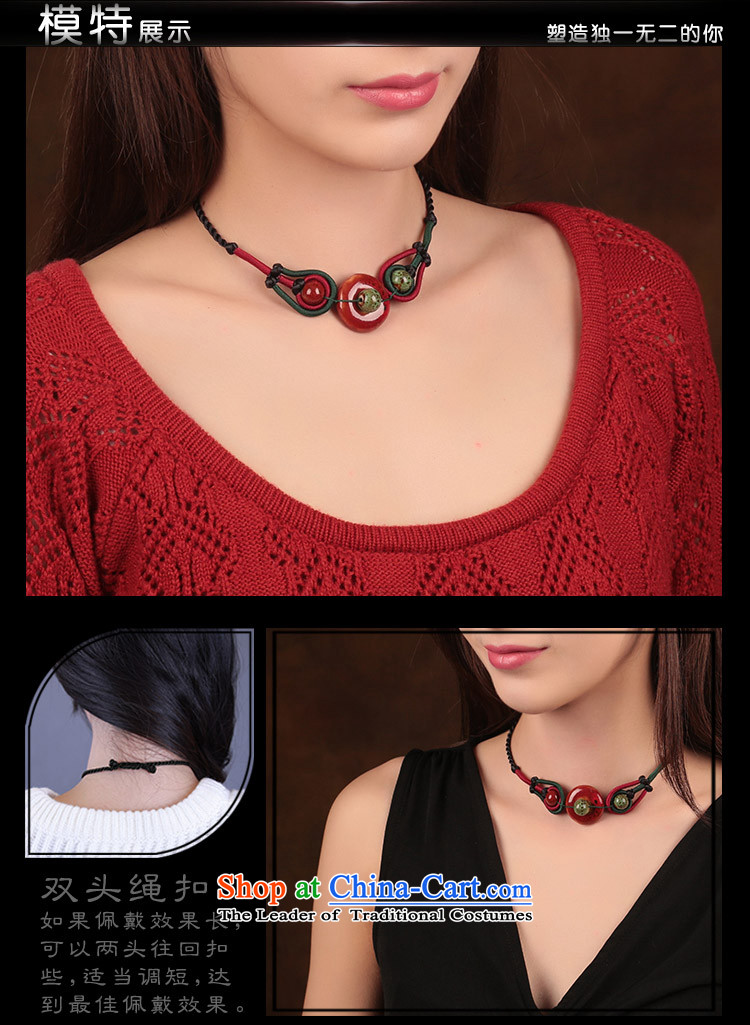 China wind ceramic clavicle link black scars also link women hand woven necklace ethnic jewelry standard size link perimeter of about 40 cm photo, prices, brand platters! The elections are supplied in the national character of distribution, so action, buy now enjoy more preferential! As soon as possible.