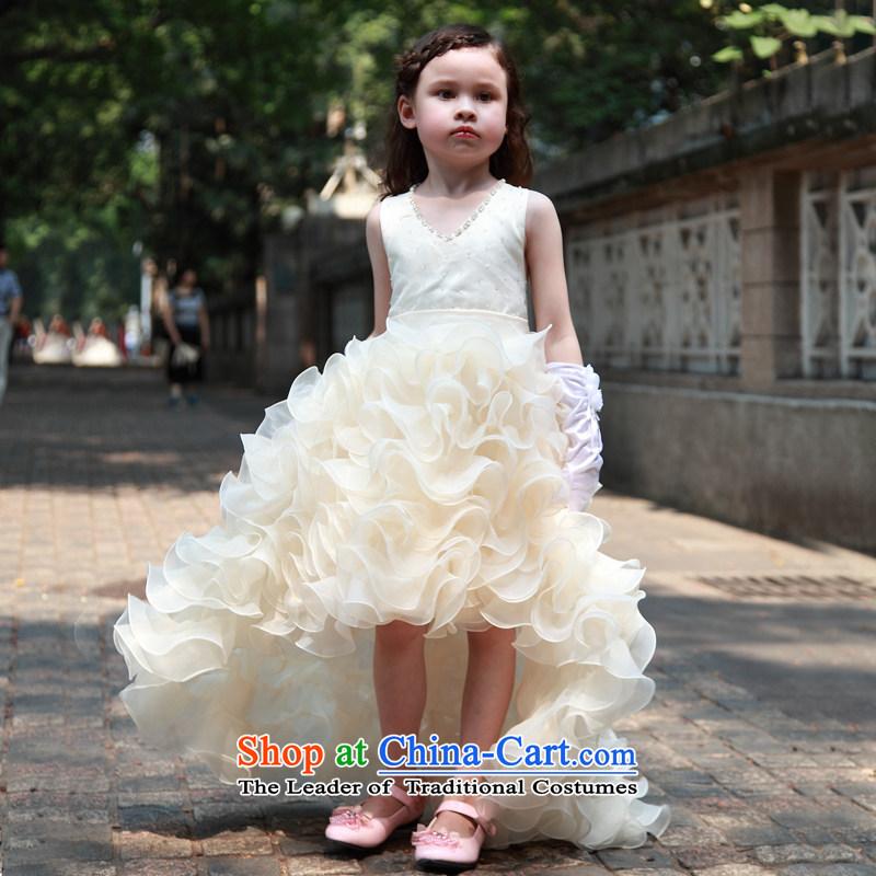 M High State Children's tail wedding dress girls dovetail princess skirt Flower Girls will bon bon skirt Kim Teak color140