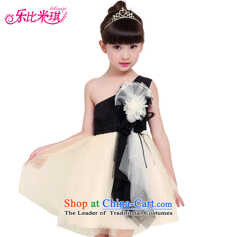 America than M Leung flower girl children dress skirt autumn dress girls long-sleeved princess skirt bon bon skirt children's wear dresses Summer Wedding wedding photo color, 150