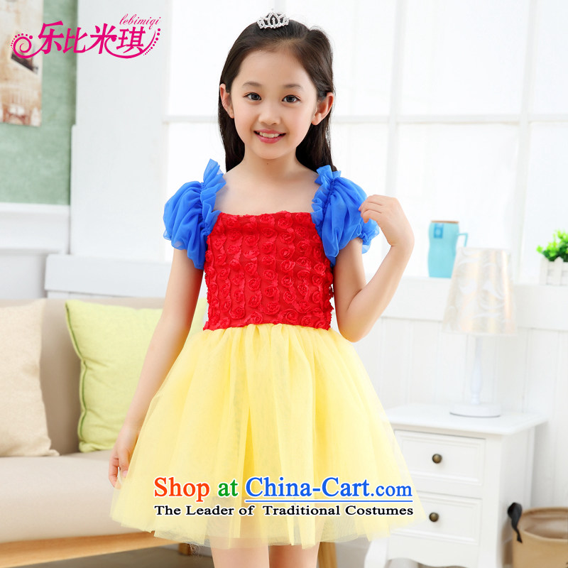 America than M Leung girls dresses summer new child Snow White Dress children bon bon dress dress Cinderella wedding dress photo color, 150