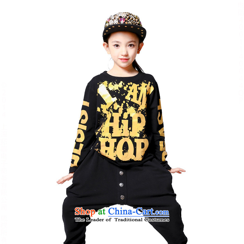Children will jazz dance girl children's hip-hop street hip hop dance performances by girls wearing uniforms聽TZ5123-0036聽聽160cm long-sleeved T-Shirt