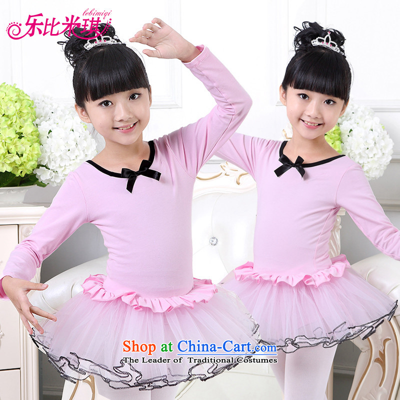 America than M Leung Children Dance serving girls fall long-sleeved costumes ballet skirt singing performances of pure cotton winter exercise clothing Sweet Heart toner 120