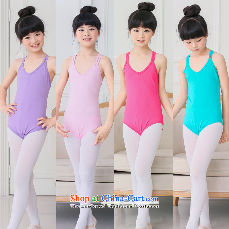 Children Dance services ballet dual lifting strap girls summer dance exercise clothing-level Services service to ballet gymnastics serving light violet