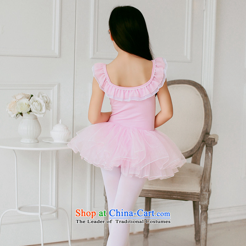Children Dance services will spring and summer ballet girls dresses princess skirt ballet will exercise clothing dress pink聽leather adjustable package has been pressed 150cm, shopping on the Internet