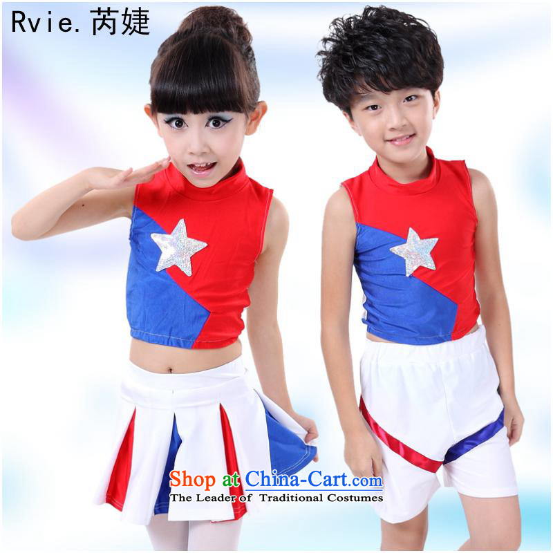 The new 61 children for boys and girls will uphold Aerobics Gymnastics clothing Shao Er theatrical performances services skirts140cm