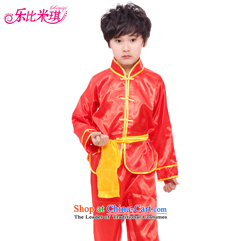 On New Year's day than M Leung Lok children for boys and girls will show care for children with tapes martial arts Taijiquan Kung Fu Show Service Pack Red聽140