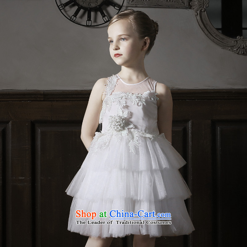 Love of聽2015 New Children Ko Yo dress skirt girls princess skirt girls wedding dress bon bon skirt White聽160
