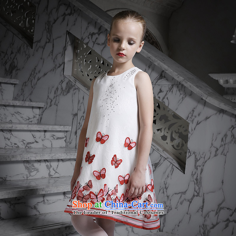 Love of聽2015 New Children Ko Yo Princess skirt girls sleeveless dresses dress will Red聽160