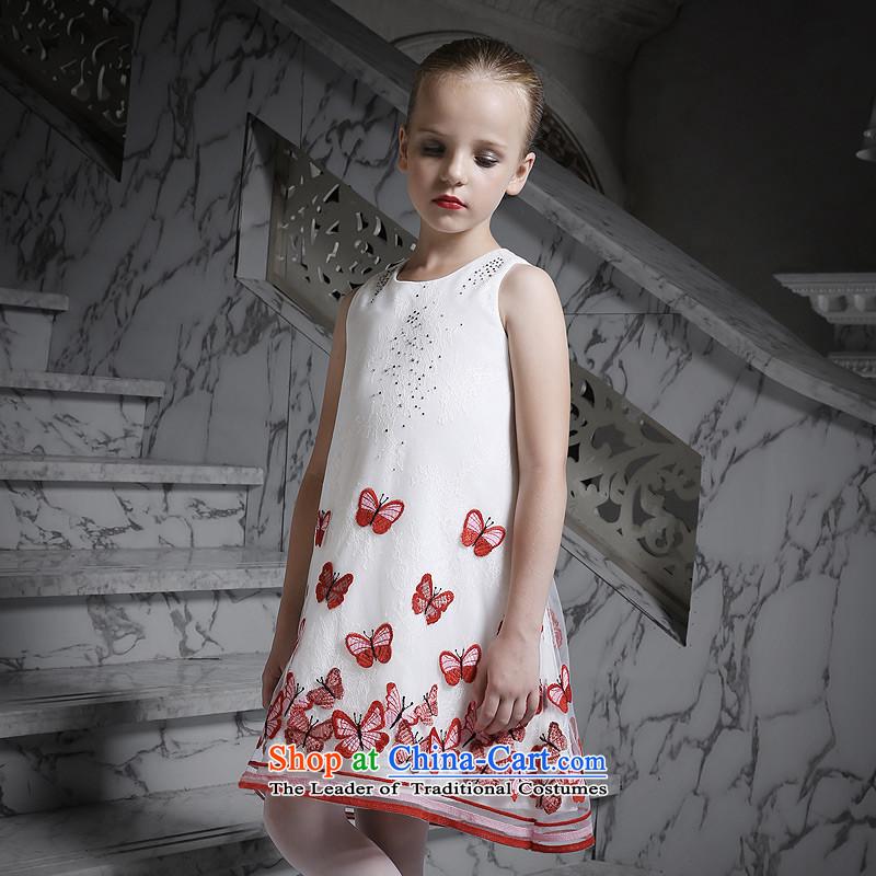 Love of2015 New Children Ko Yo Princess skirt girls sleeveless dresses dress will Red160