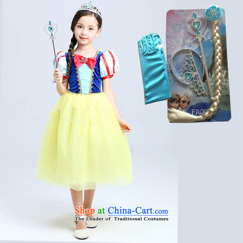 Future angelSnow White Christmas Concert Services Korea skirt version fairy tale Princess Snow White Clothes skirt children dress skirt gloves + 4 piece set150