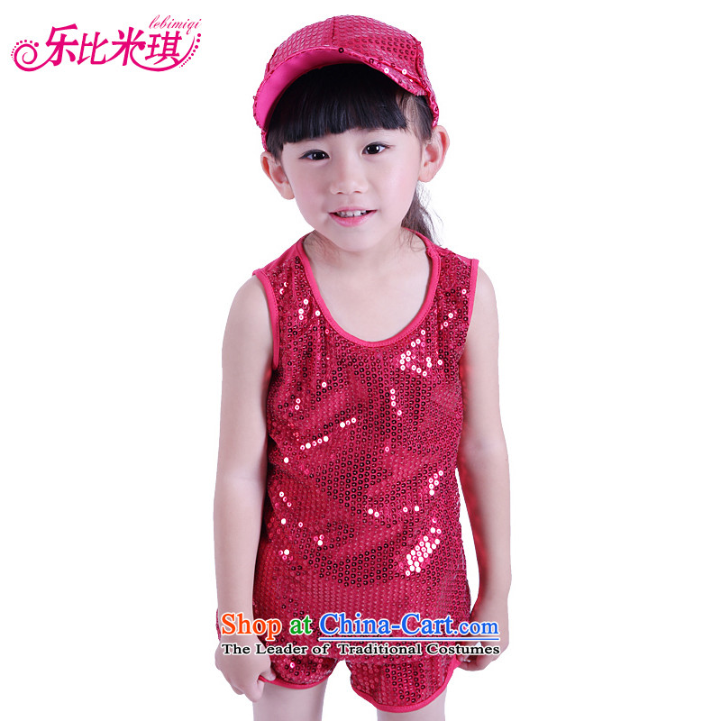 New Year's new child will jazz dance modern jazz dance show services to boys and girls wearing bright with street dance by red?140