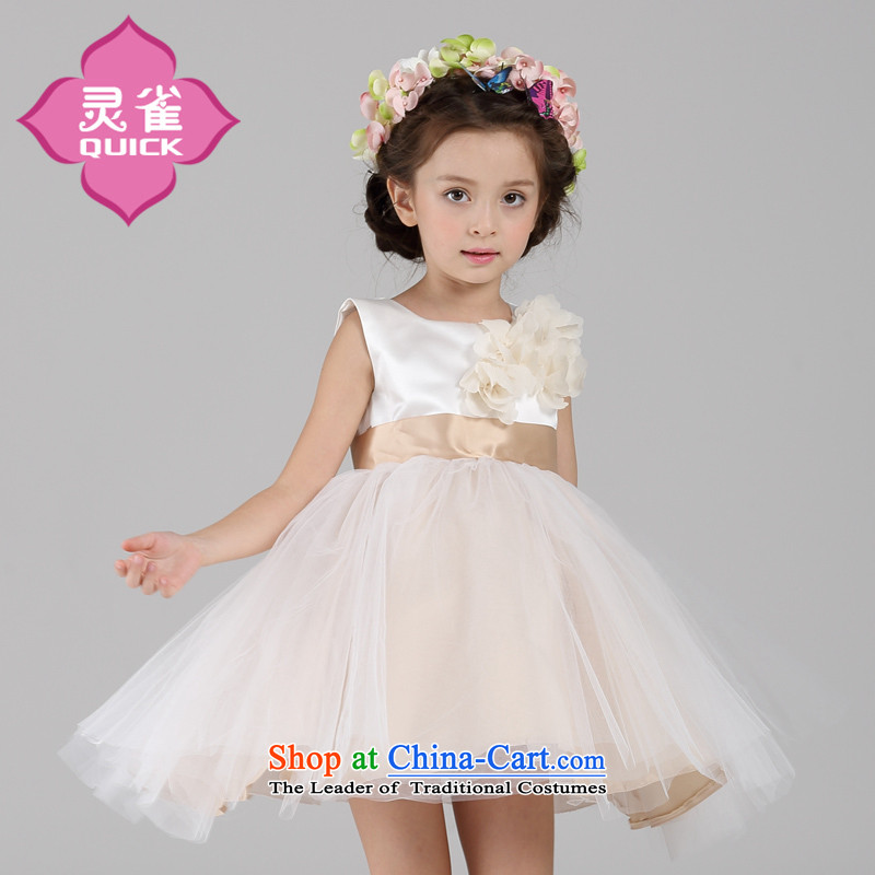 The spirit of the new flower girl birds bon bon princess dress skirt children will a new summer products girls dresses?LQ15140 140
