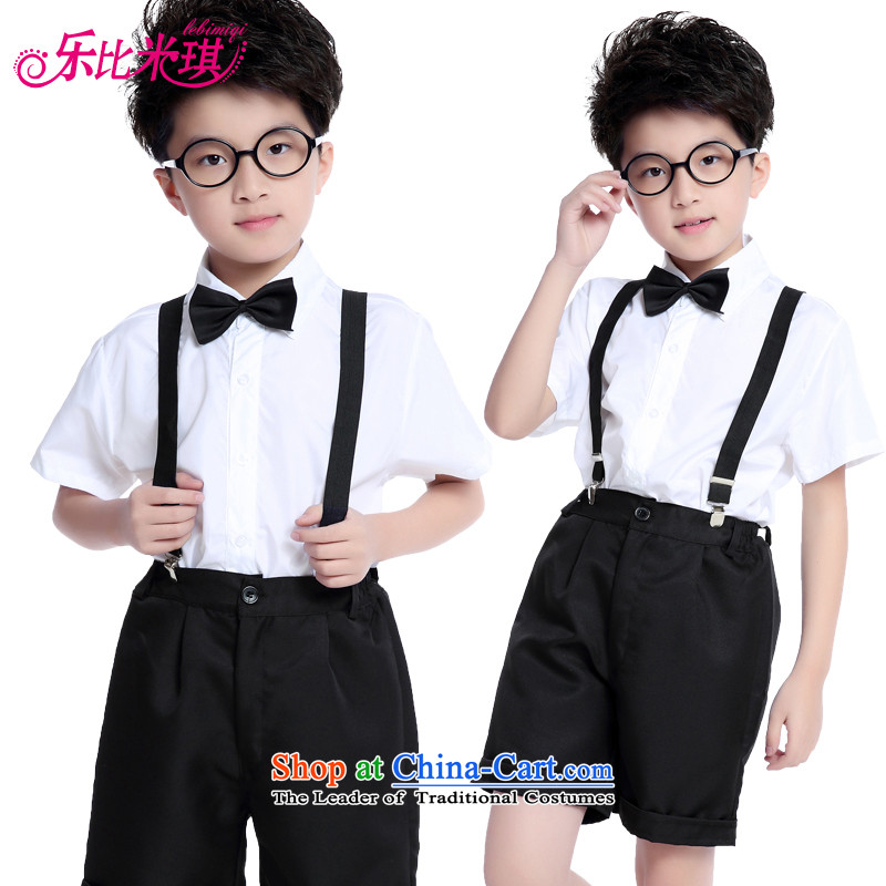 New Year's children's choral clothing recited poems stage elementary school students in school uniforms for children with costumes costumes and short-sleeved shorts 170