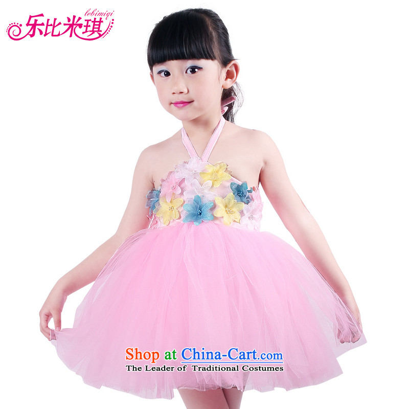 New Year's children costumes girls will princess skirt bon bon dress that early childhood will dance wearing a pink 150