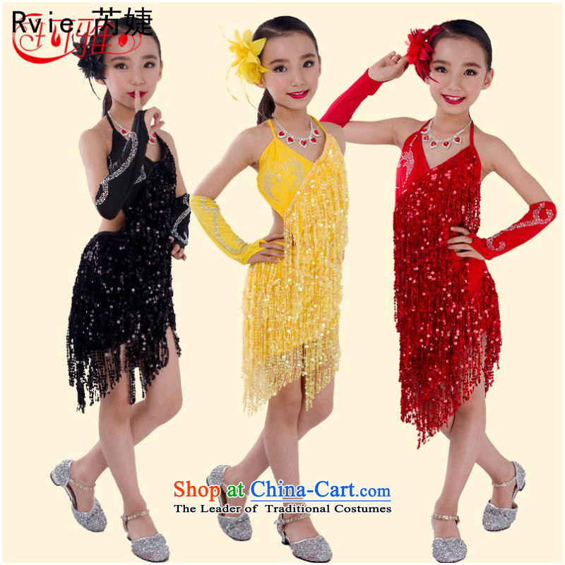 Children will?fall 2015 Skirt Hapjeong dance stage performances services girls Dance Dance dress with blue skirt to fine iron drill gloves?L Code 150 - 160131