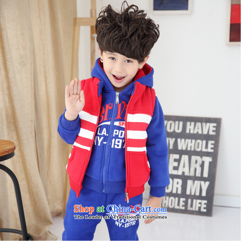 Kindergarten services winter garden, elementary school students in school uniforms on thick clothes sportswear sweater 3-Piece Set Red, a聽number of proposals 170 yards and 160 cm