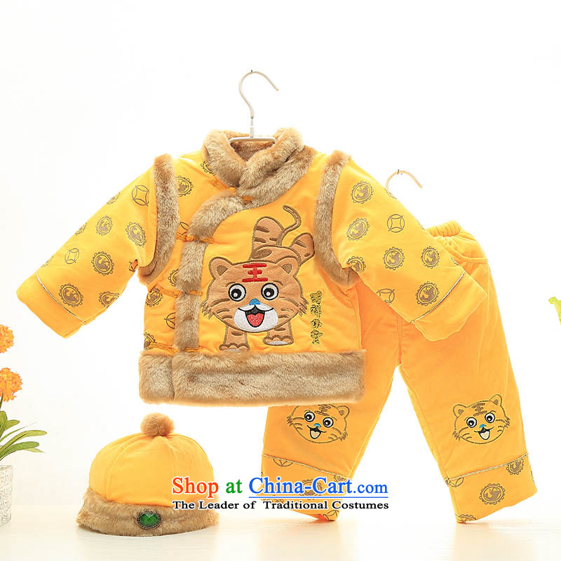 Baby Tang dynasty 2015 new children's wear boys winter clothing infant thick CHILDREN SETS aged 100 New Year Service ãþòâ fleece 1-2-3-year-old palace Wong 100