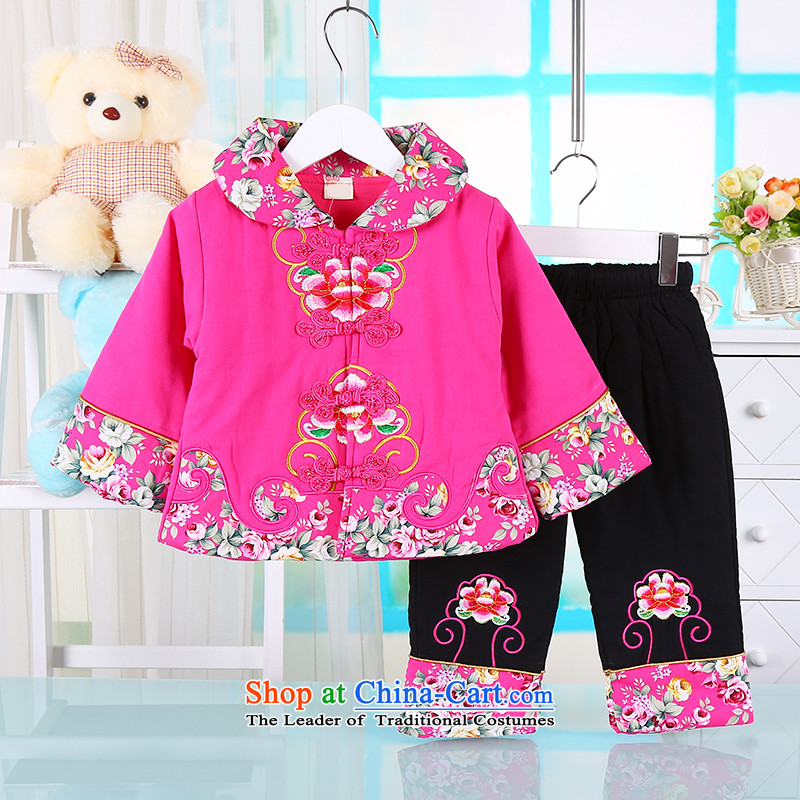 The girl children's wear winter clothing new child Tang Dynasty New Year Ãþòâ Kit Infant Garment whooping baby years old stylish package out of red 80_80_ services