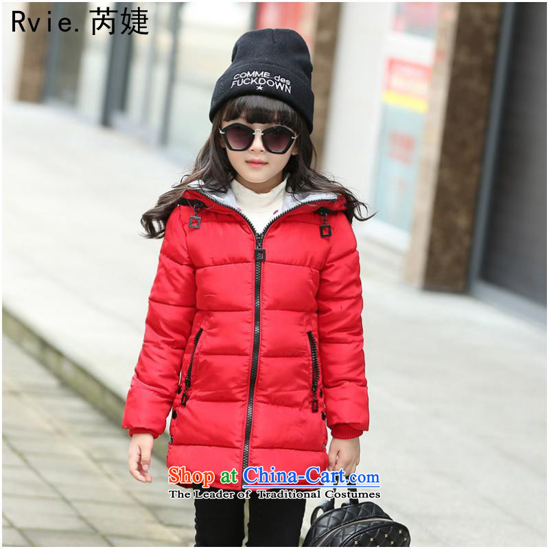 Explosions of children's wear winter) thick cotton zipper girls' Korean version of CUHK in the thick of the girl child cotton red 160 code