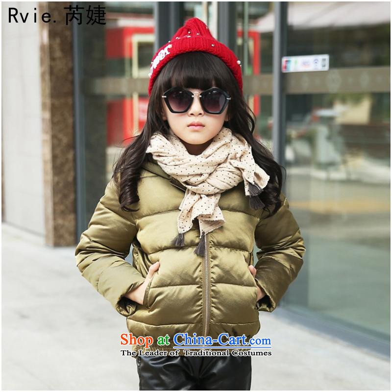 Cotton coat聽15 winter of girls of the girl child and of children's wear cotton Korean winter, Solid Color frock coat girls girls jacket and Kim Ho聽140 code