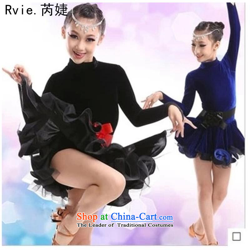 New autumn and winter, Latin American Dance services girls ballet modern dance exercise clothing dance yi will black 160cm