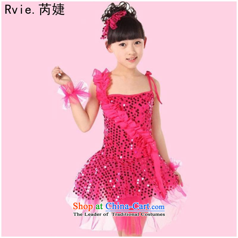 The new Child Latin dance modern dance performances will serve Stage Costume children dance piece of red light services110