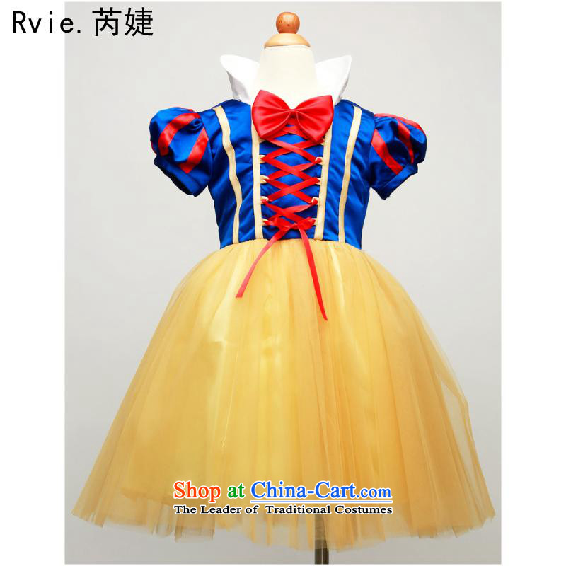 Children European and American Snow White show services take Services Role Play cosplay costumes Halloween costumes such as map color 140cm
