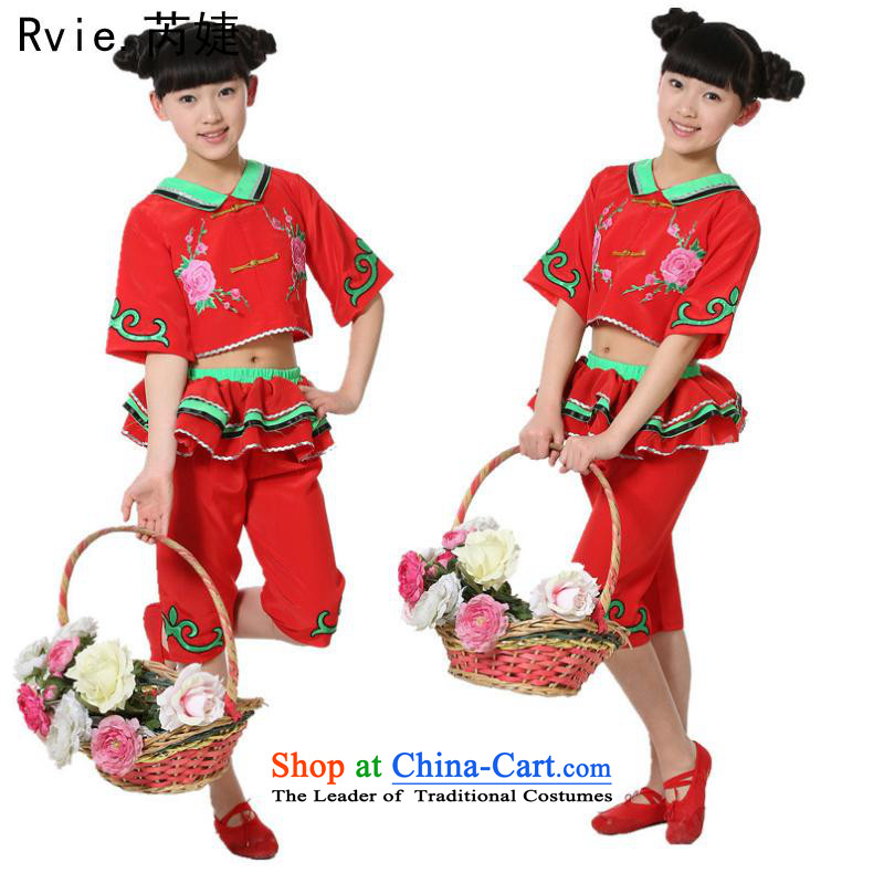 The new summer children folk dance performances by red yangko girl child care services handkerchief dance drum performances Services Red聽5.30