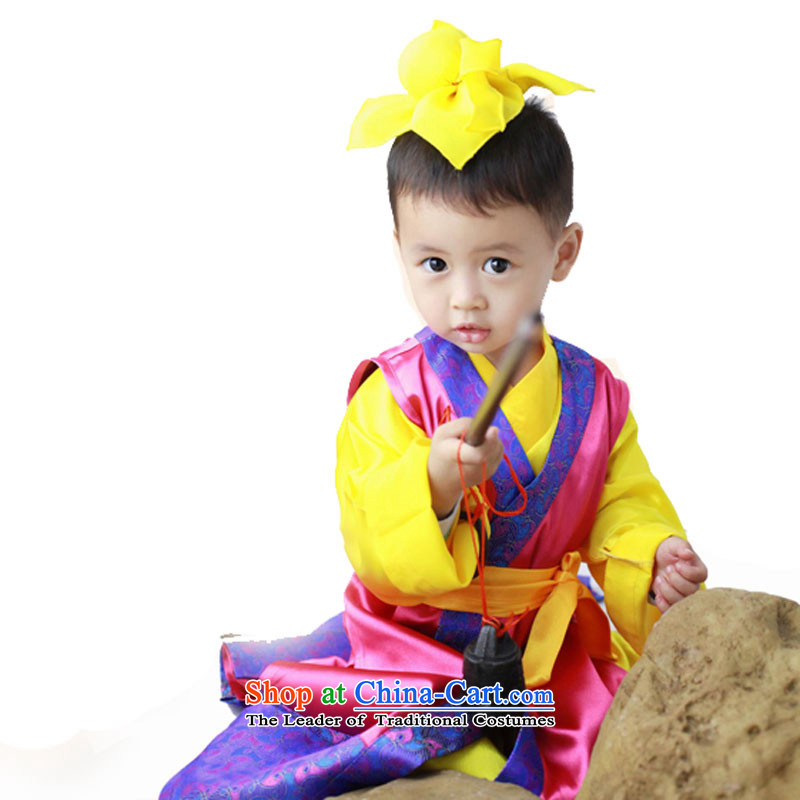 61. Children will nunnery boy disciples costume Han-regulation Neo-confucian services as child care that Chong Cao will Yellow120cm
