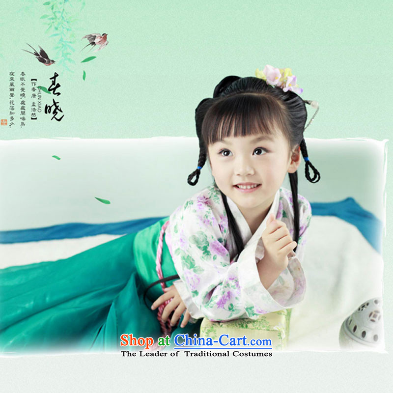 Children will start with the Chinese chun xiao baby Art Photography Kit Green Clothing Plus Head Ornaments 140cm