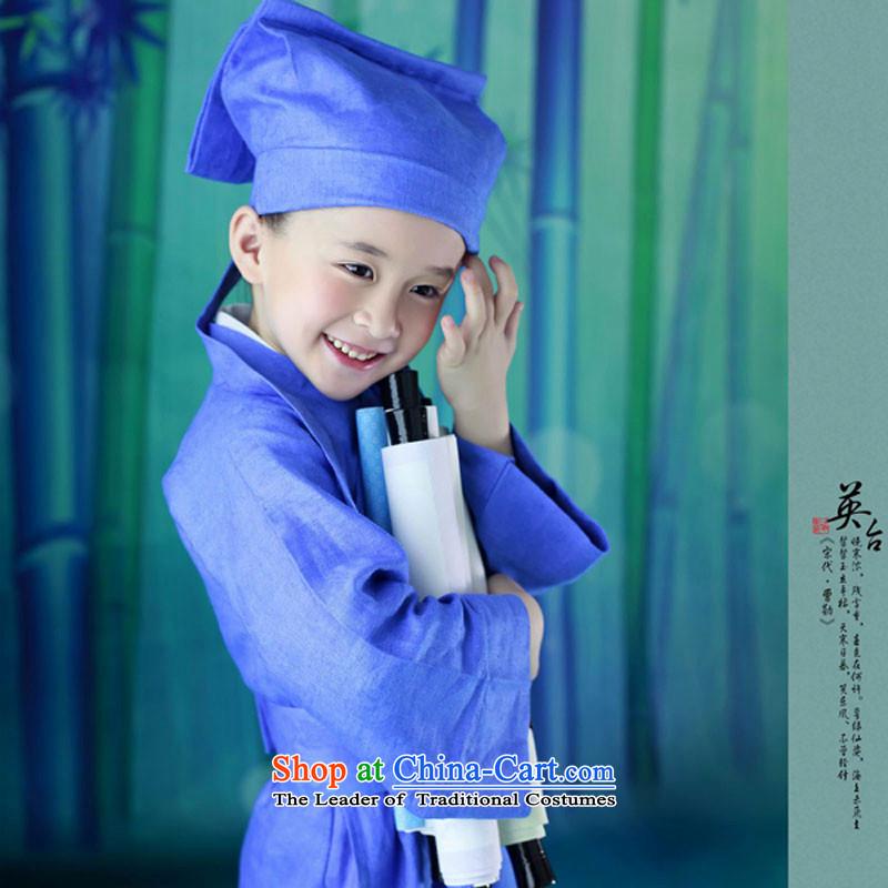 Little children costume show dress book of children's wear Ying-kit 61 children stage performance apparel Blue5.30
