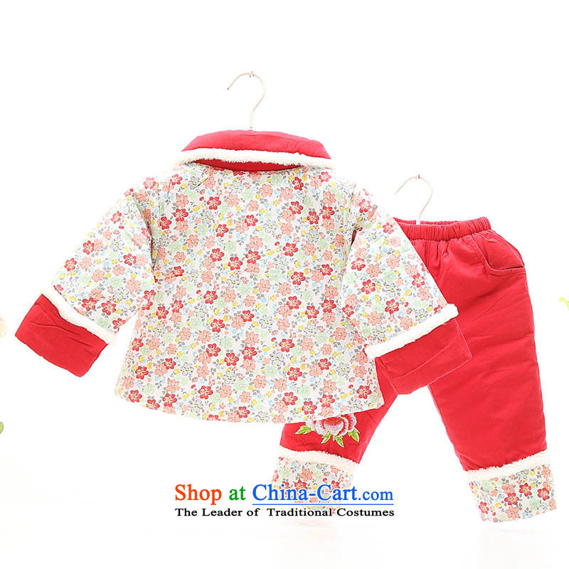 New Year Children Tang dynasty winter clothing Girls Boys Girls baby coat cotton coat clothes infant and child birth years dress photo infant garment aged 1-2-3 in red 100, and fish fox shopping on the Internet has been pressed.