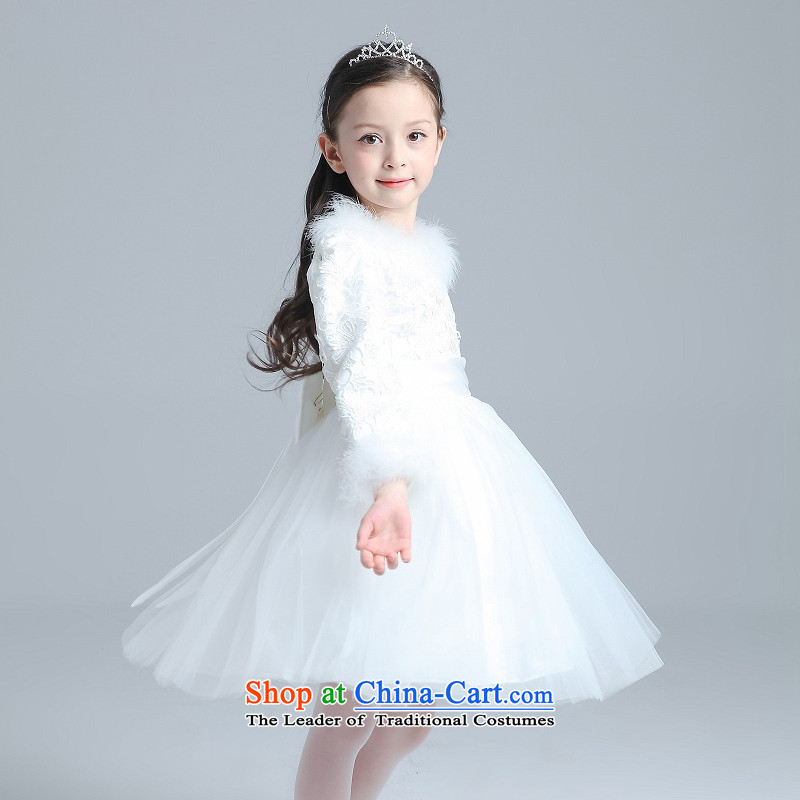 M high state of 2015 winter flower girl children dress wedding dress ...
