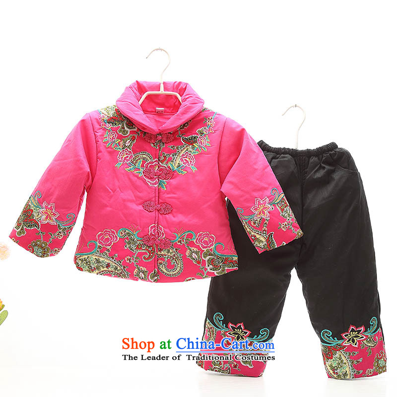 Replace your baby girl children ãþòâ jackets with female children's wear Tang Gown of small and medium-sized child infant winter clothing Infant Garment Happy Birthday photo red red in the age of 1-2-3100