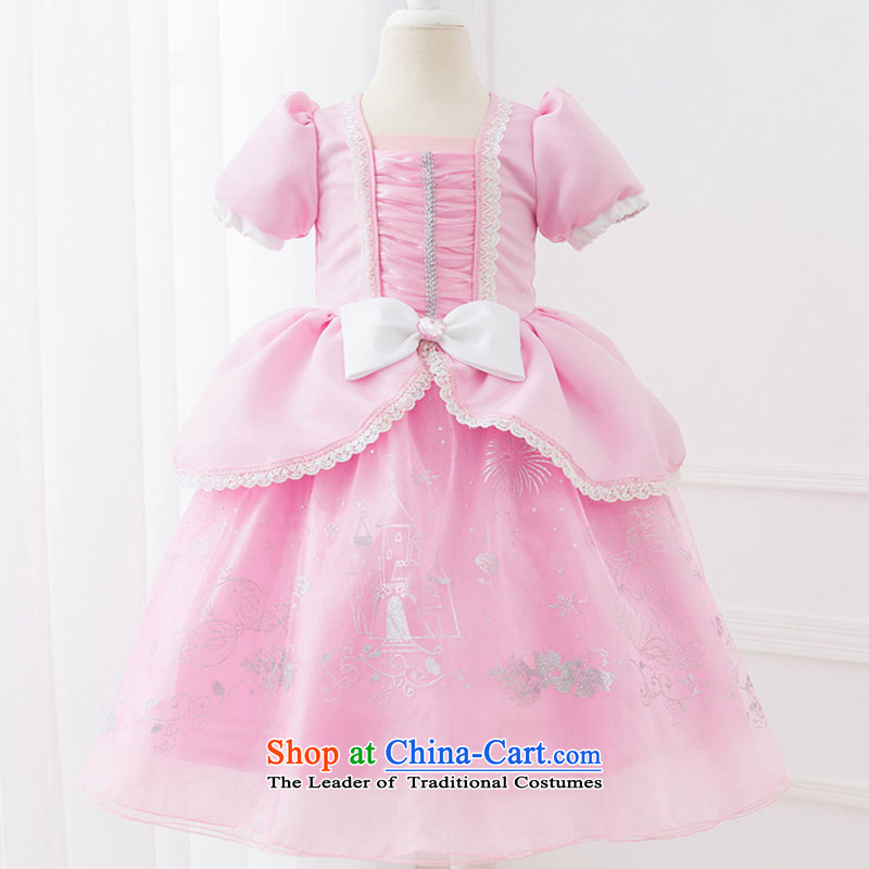 Children will love the princess skirt Mermaid Lai children princess skirt bon bon skirt pink girls suits skirts pink 140cm