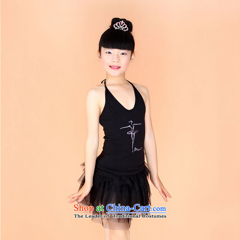 Children costumes dance wearing dress that early childhood girls exercise clothing bon bon skirt Latin dance performances of early childhood services聽for 160cm black appears at paragraphs 145-155