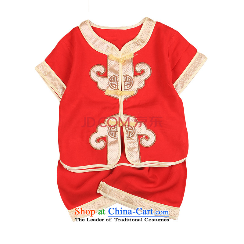2015 new boys under the age of a gift pack for summer baby Tang children of ethnic Chinese clothing sets 4,799 Red 100